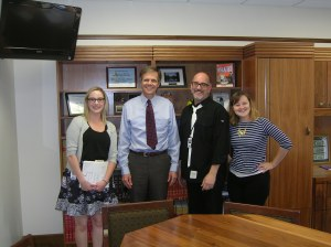 Kevin Douglas Hay (r) with Sen. Hass and staff