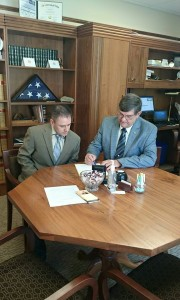 Anthony Miller with Sen. Olsen
